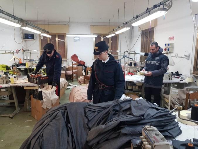 carabinieri laboratorio clandestino bondeno di gonzaga