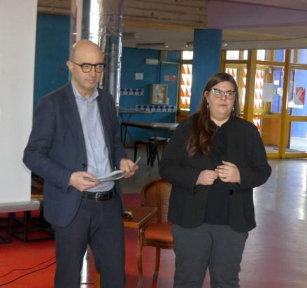 gli assessori Andrea Caprini Comune di Mantova e Valentina Morigi Comune di Ravenna