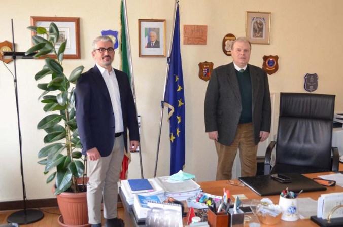 da sx il sindaco Mattia Palazzi e il questore Paolo Sartori