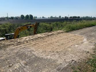 I lavori di ripristino sull'argine destro del Senio, Cotignola, aprile 2020 (4)