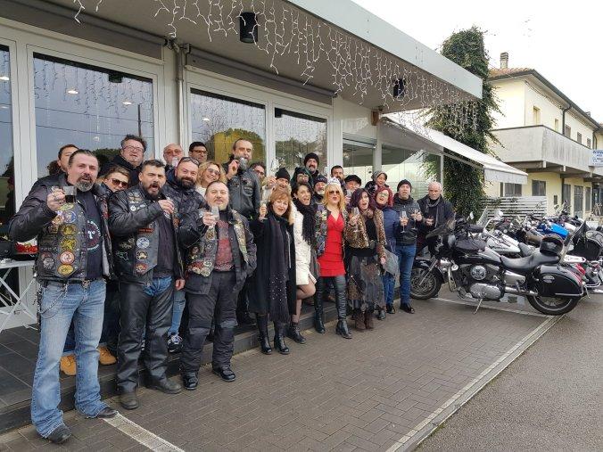 I membri del motoclub La Torre