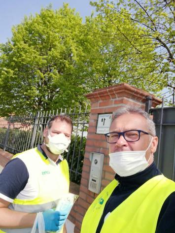 La consegna delle mascherine a Barbiano, 18 aprile 2020 (4)