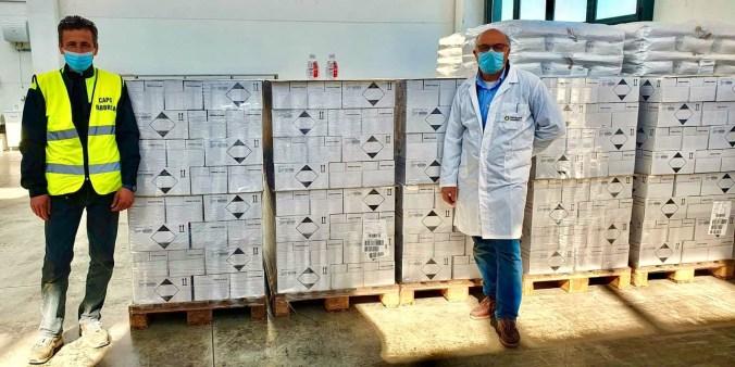 Le confezioni di gel igienizzante donate dalle Distillerie Mazzari (2)