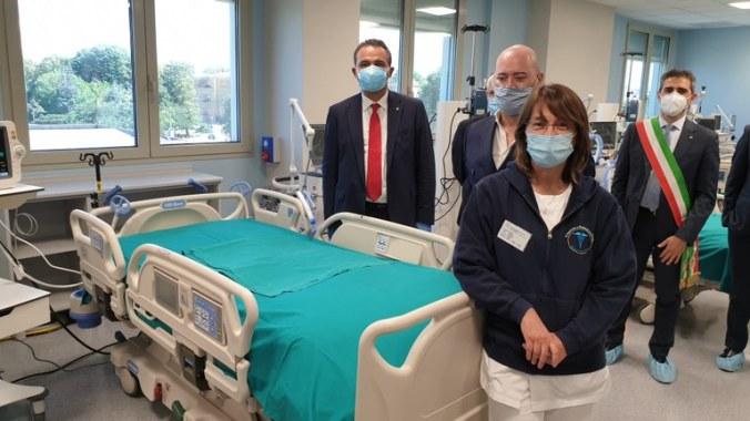 Bonaccini, Donini, sindaco di Parma , hub terpie intensive Parma