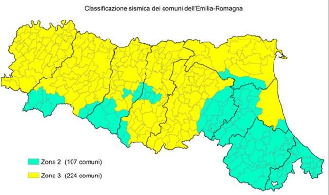 mappa sismi comuni emilia romagna