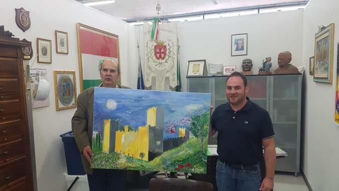 Roberto Corso con il sindaco Roberto Angeli