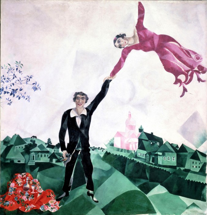 Marc Chagall, La passeggiata, 1917-18, San Pietroburgo, Museo Statale Russo © Chagall ®, by SIAE 2020.jpg