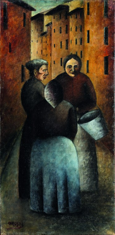 Ottone Rosai- Incontro in via Toscanella 1922