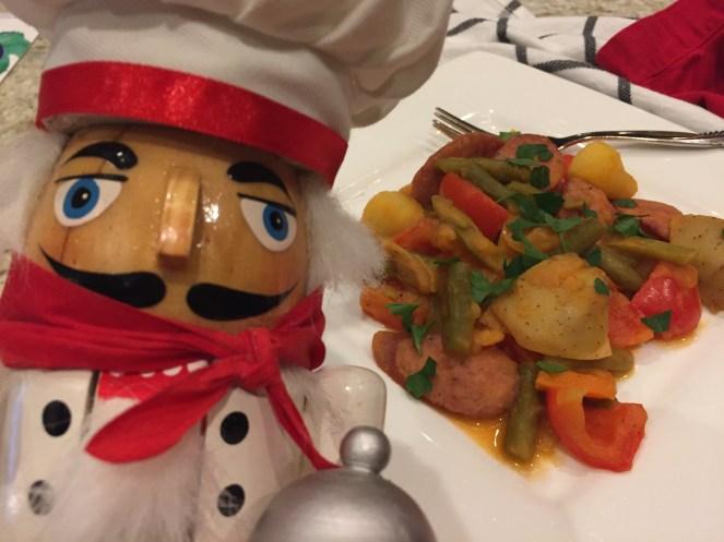 one pot meal with kielbasa sausage