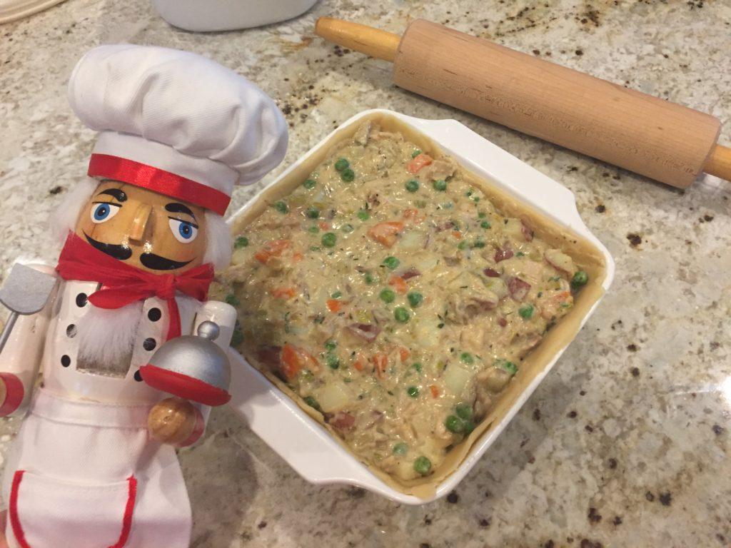 Pepe filling turkey pot pie