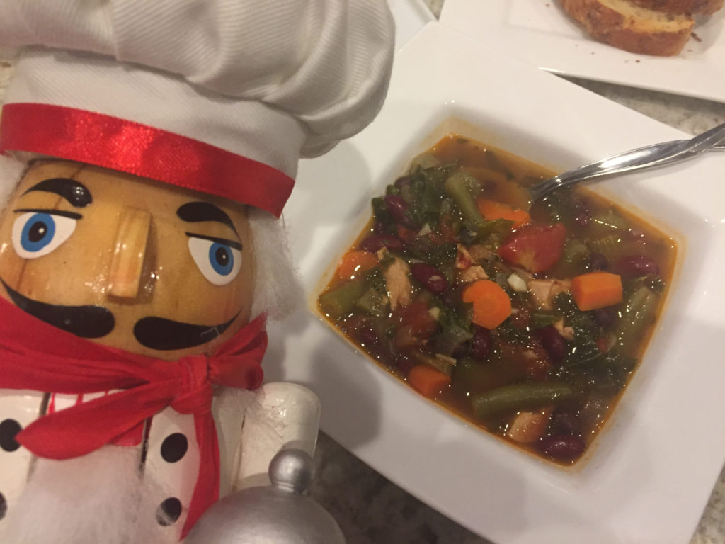 Pepé with Minestrone Soup