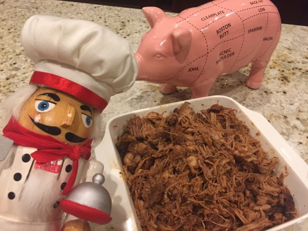 Pulled smoked pork shoulder