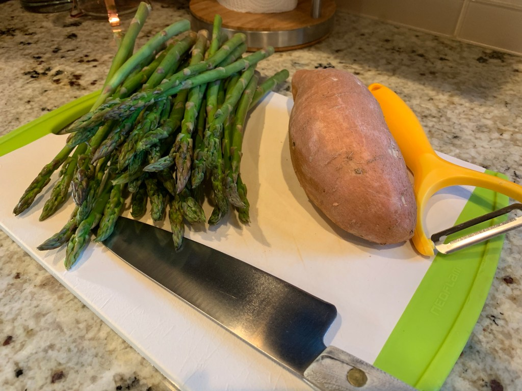 Sweet potato and asparagus