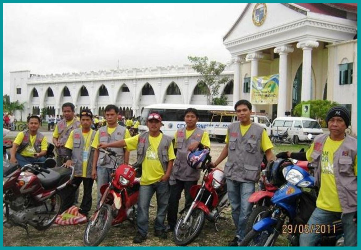 Bantay Ceasefire volunteers join bike for peace to Upi