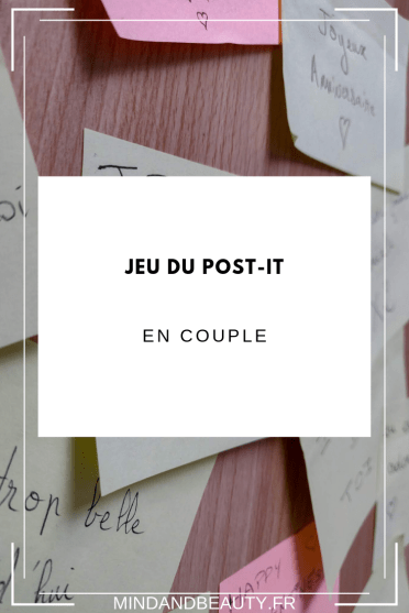 Mindandbeauty - Jeu du post-it en couple