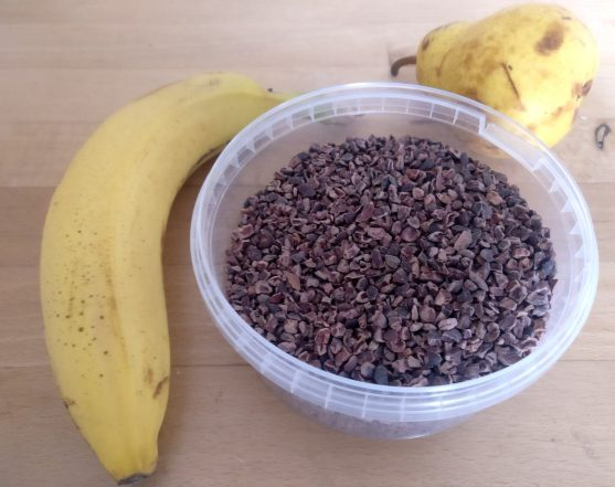 Ingrédients milkshake banane poire