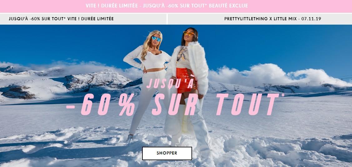 Mind & Beauty - Shopping en ligne : Promo Pretty Little Thing