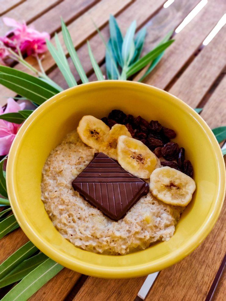 Mind and Beauty - Recette sucrée : Porridge à la banane