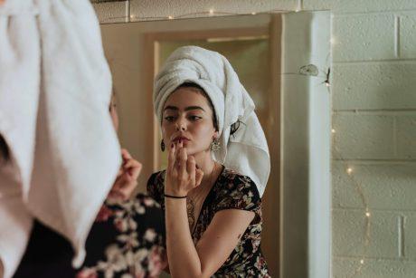 lady getting ready