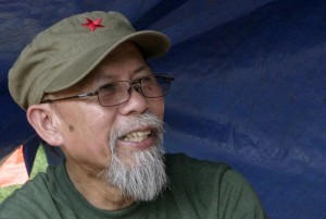 Jorge Madlos, a.k.a. Ka Oris. Mindanews File Photo by Gigi Bueno