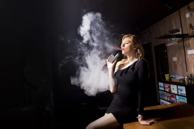 Vaping E-cigarette use also known as Vaping