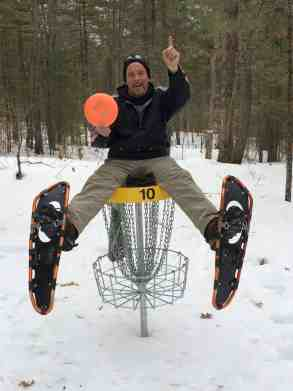 Disc golf in the snow