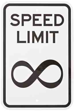 speed limit sign for disc golf disc