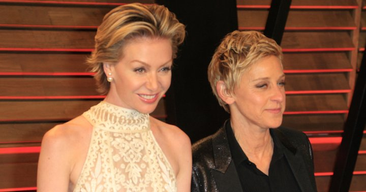 Ellen DeGeneres Catches Portia De Rossi Doing The Jane