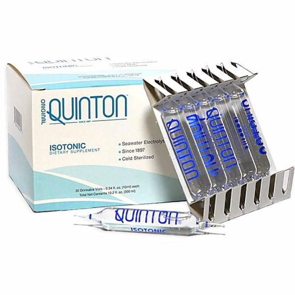 Quniton Isotonic -The perfect Isotonic solution of organic ocean minerals diluted with natural alpine spring water to achieve the same consistency as your blood plasma. Supports homeostasis and rehydration and contributes to normal digestion