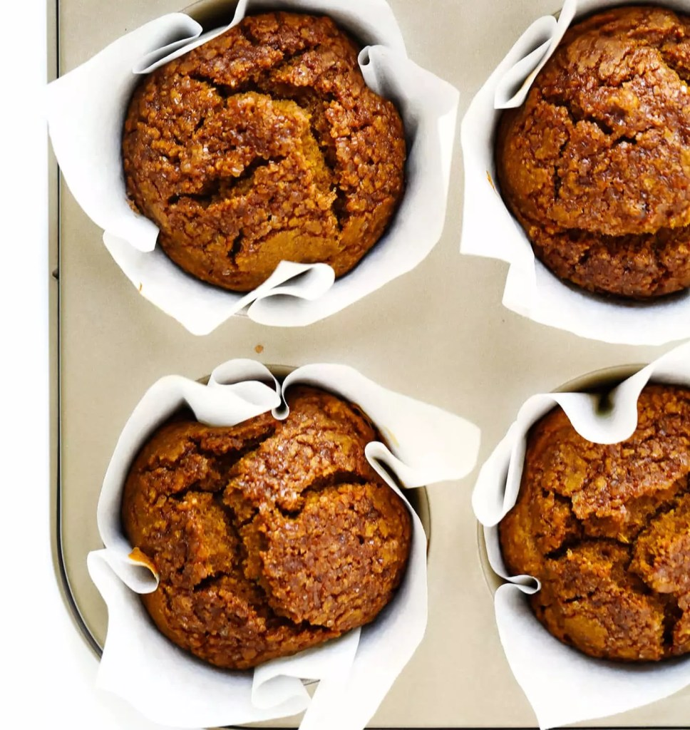 Healthy Pumpkin Muffins fresh out the oven
