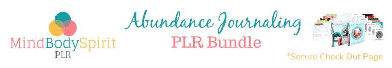 Abundance Journaling PLR Product Banner for JVzoo Sales Pages (High Res)
