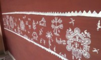 The gallery for --> Modern Warli Painting On Wall