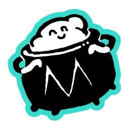 Mind Cauldron Logo - small black white blue