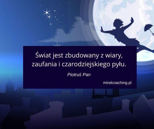cytaty z bajek Piotruś Pan