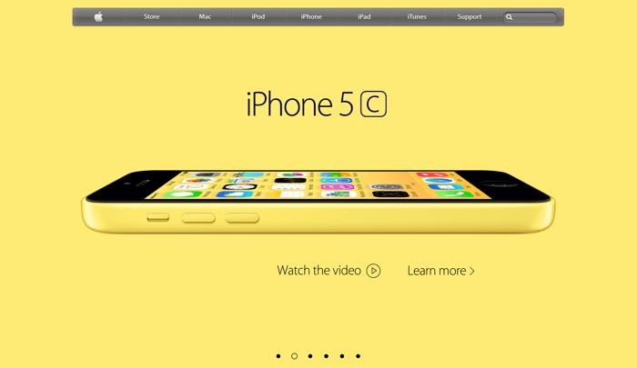 homepage sito apple con iPhone color