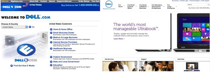screenshot sito dell