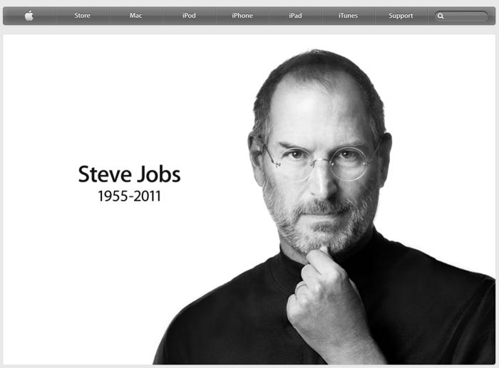 homepage sito apple commemorativa di steve jobs