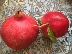 fresh pomegranates, I picked from the Central Valley orchards
