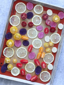 Lemons, fingerling potatoes, cherry tomatoes