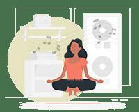 A Woman Practicing Sound Bath Meditation