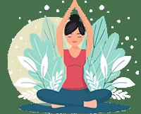 A Woman Practicing Zen Meditation