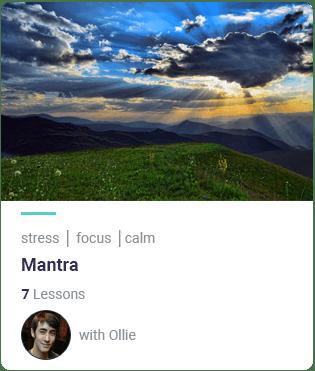 Mantra MindEasy meditation course