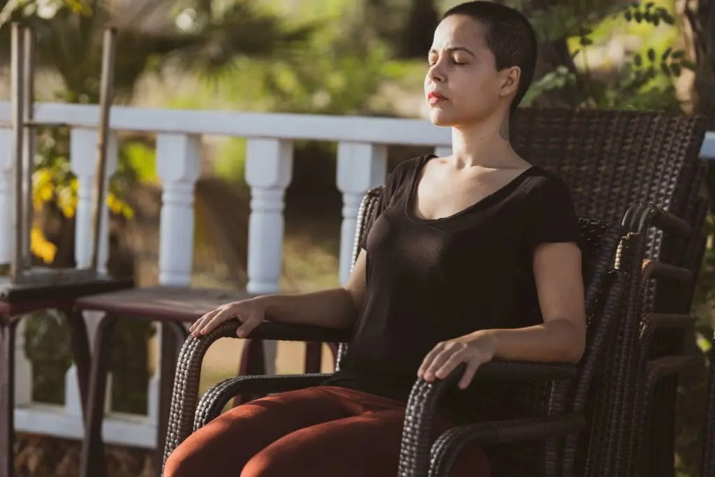 Meditation Positions - Sitting in a chair