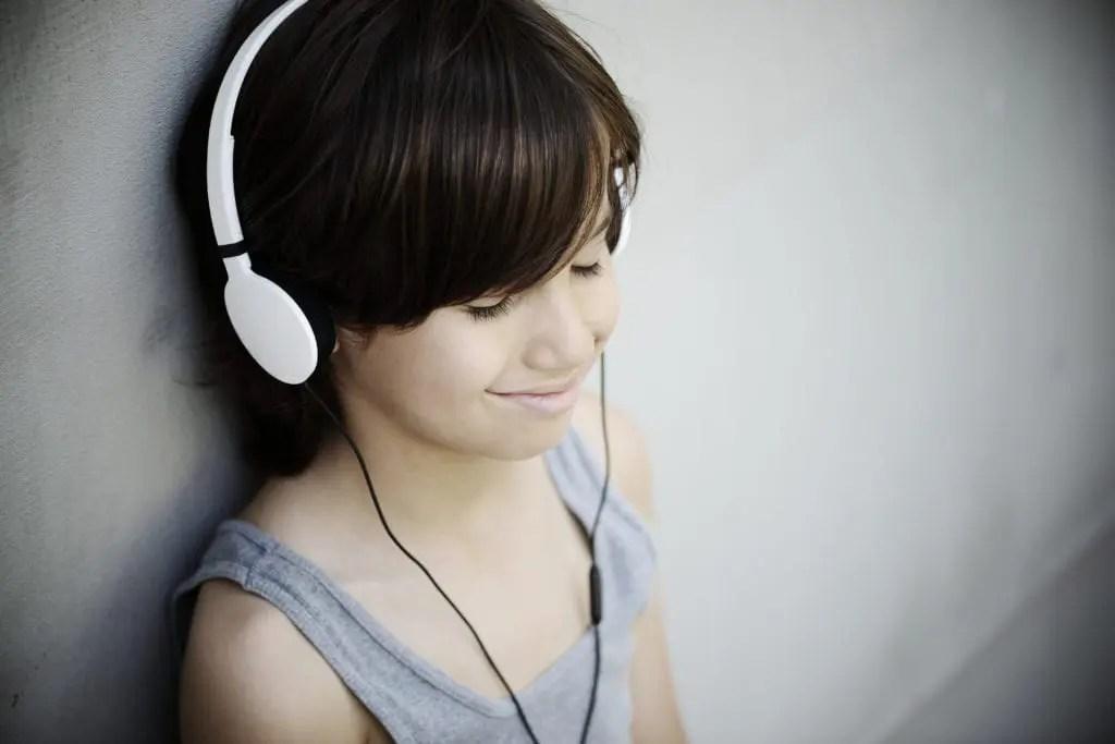 Child practising mindfulness