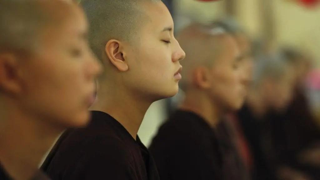 Buddhist meditation group called a Sangha.