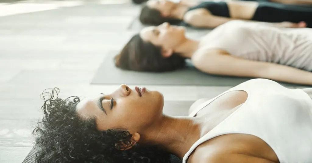 meditation and yoga - savasana