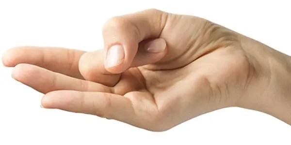Meditation hand position