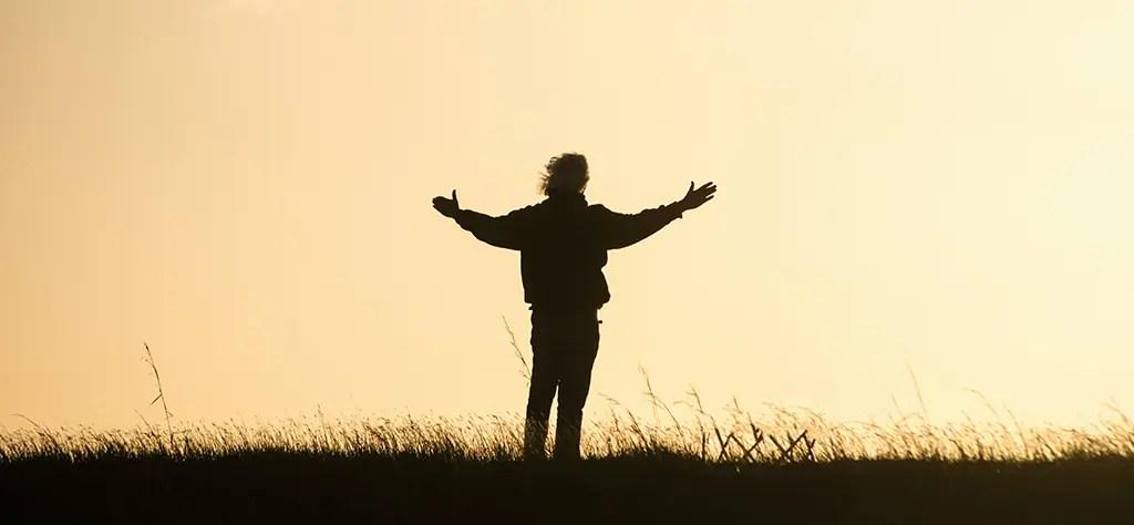 gratitude meditation - Man gives gratitude