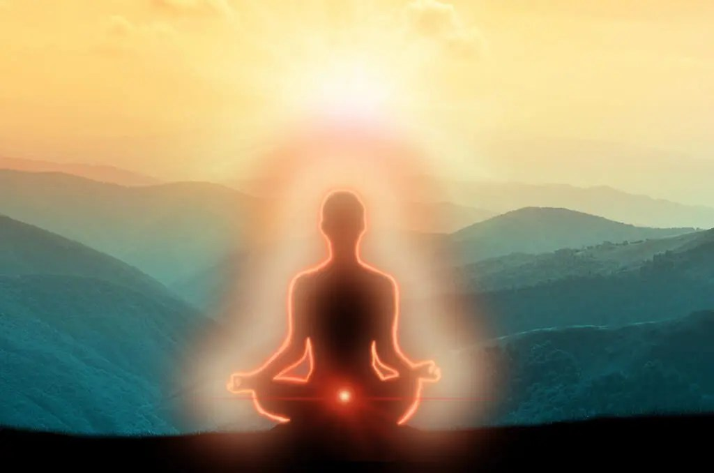 Meditating on a red aura