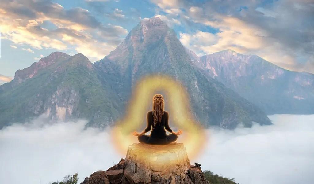 meditating on the orange aura